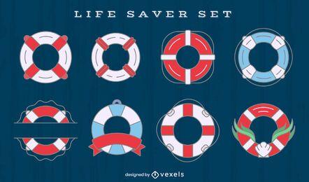 Conjunto de elementos de anillos flotantes salvavidas