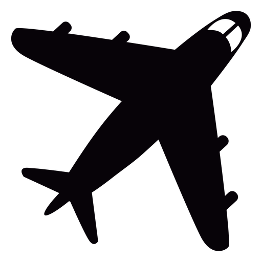 Flying airplane cut out