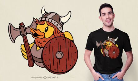 Design de t-shirt de pato de borracha Viking