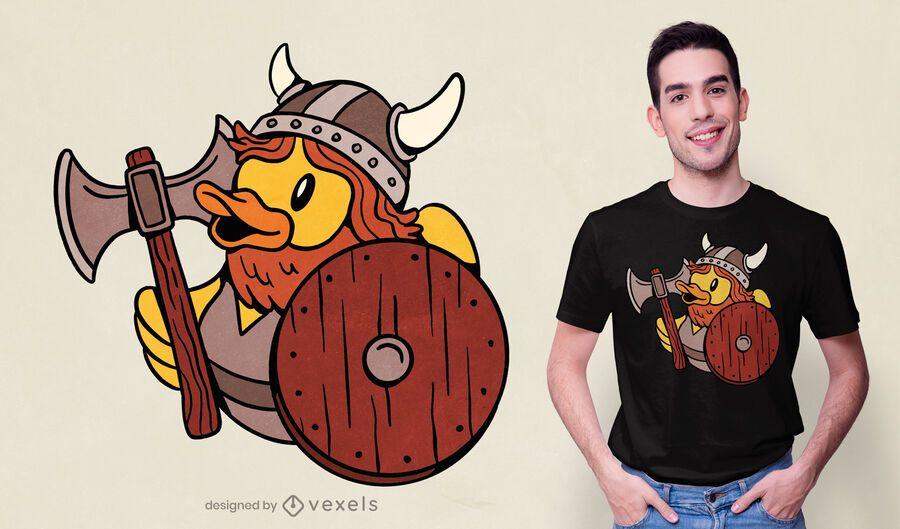Viking rubber duck t-shirt design