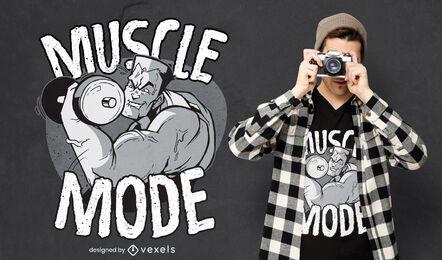 Design de camiseta para fisiculturistas levantando pesos