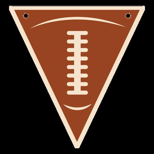 Football ball pennant flat