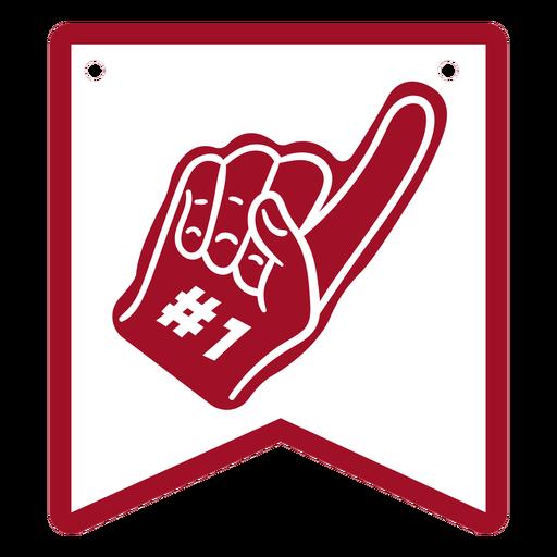 #1 glove badge cut out