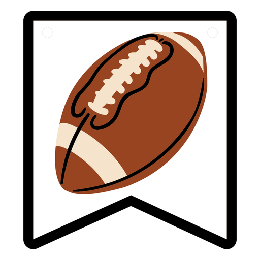 Football ball badge flat