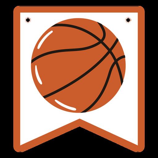 Basketball ball badge semi flat