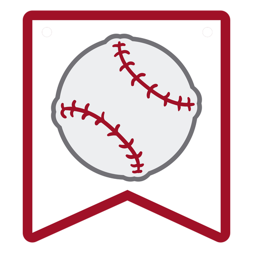 Baseball ball badge flat