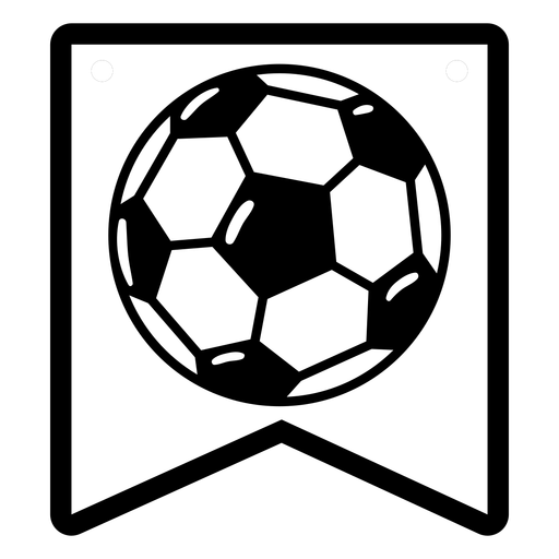Soccer ball badge semi flat