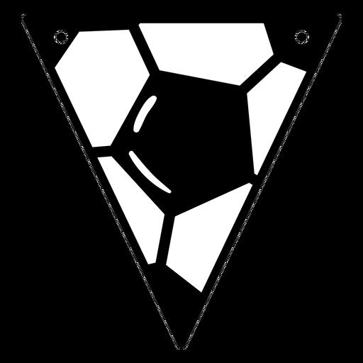 Triangular soccer badge cut out