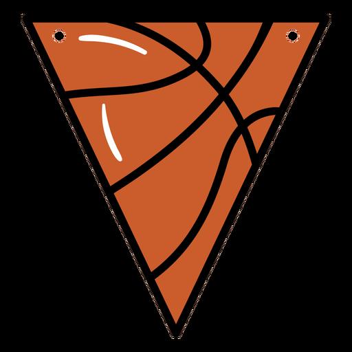 Triangular basketball pennant semi flat