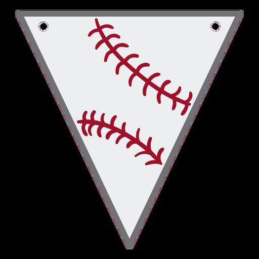 Triangular baseball pennant semi flat