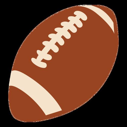 American football ball flat design