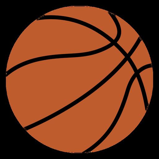Basketball ball flat design
