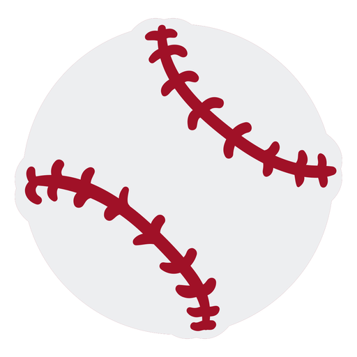 Baseball ball flat design