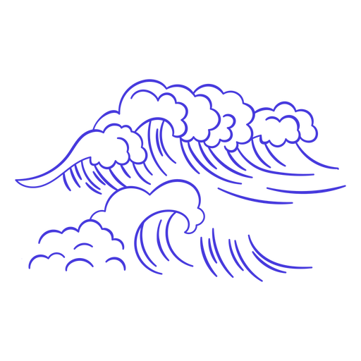 Ocean waves stroke
