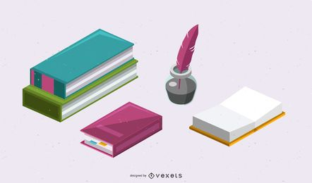 NOTES INK BOOKS POINT VECTOR MATERIAL