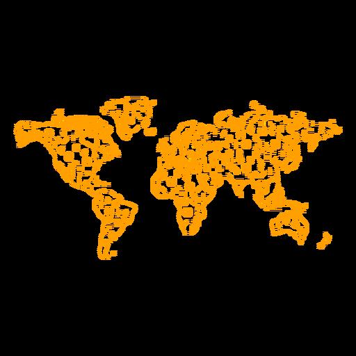 World map stroke