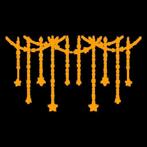 Stars garland filled stroke