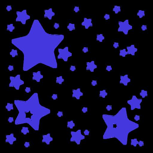Purple stars cut out