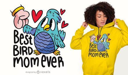 Melhor design de t-shirt de mãe de pássaro