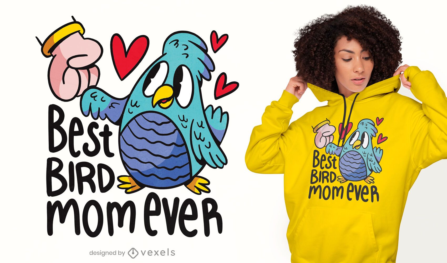 El mejor diseño de camiseta de mamá pájaro