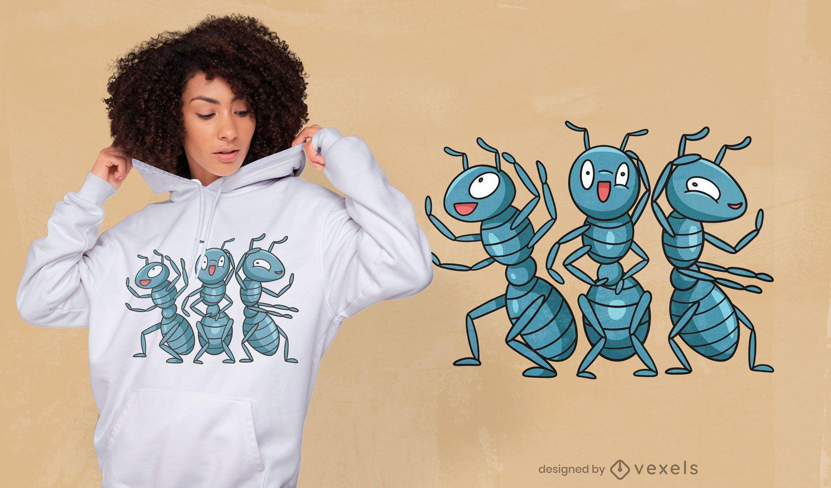 Ant party t-shirt design