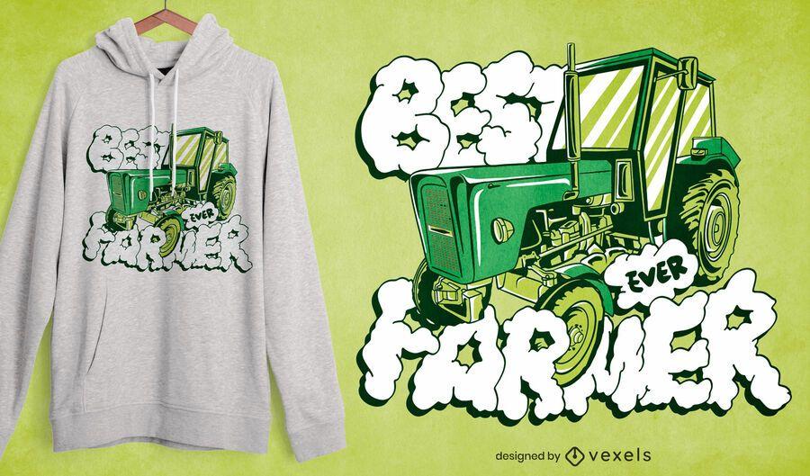 El mejor diseño de camiseta de granjero