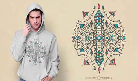 Design de t-shirt de estilo geométrico berbere