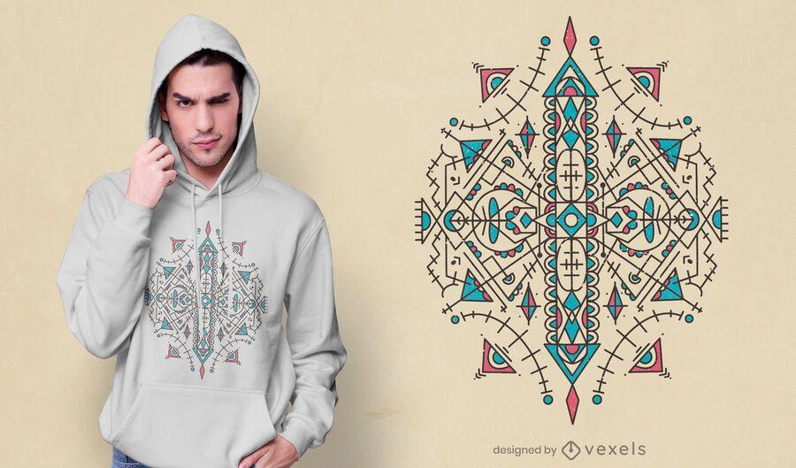 Berber geometric style t-shirt design