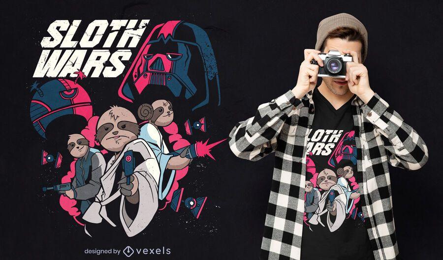 Sloth wars t-shirt design