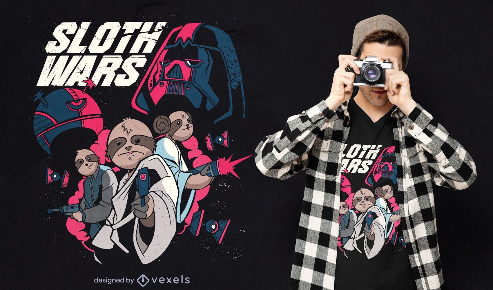 Diseño de camiseta de Sloth Wars