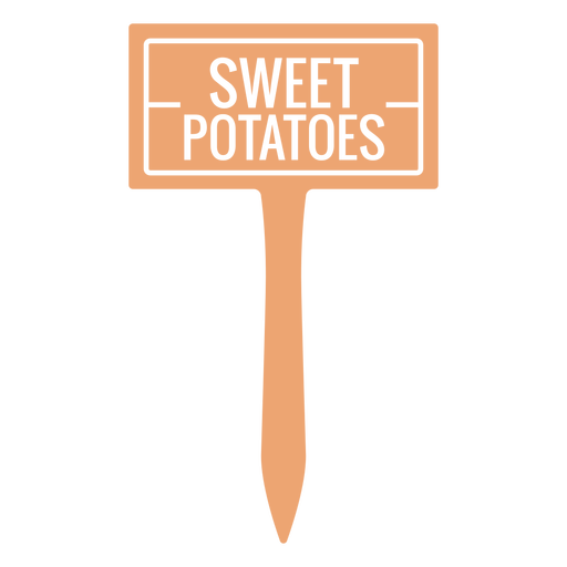 Sweet potatoes sign cut out