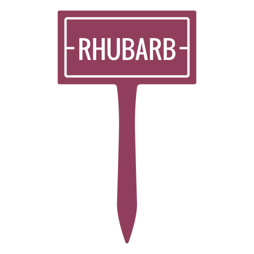 Rhubarb label filled stroke