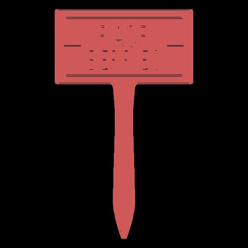 Rasp berries label filled stroke