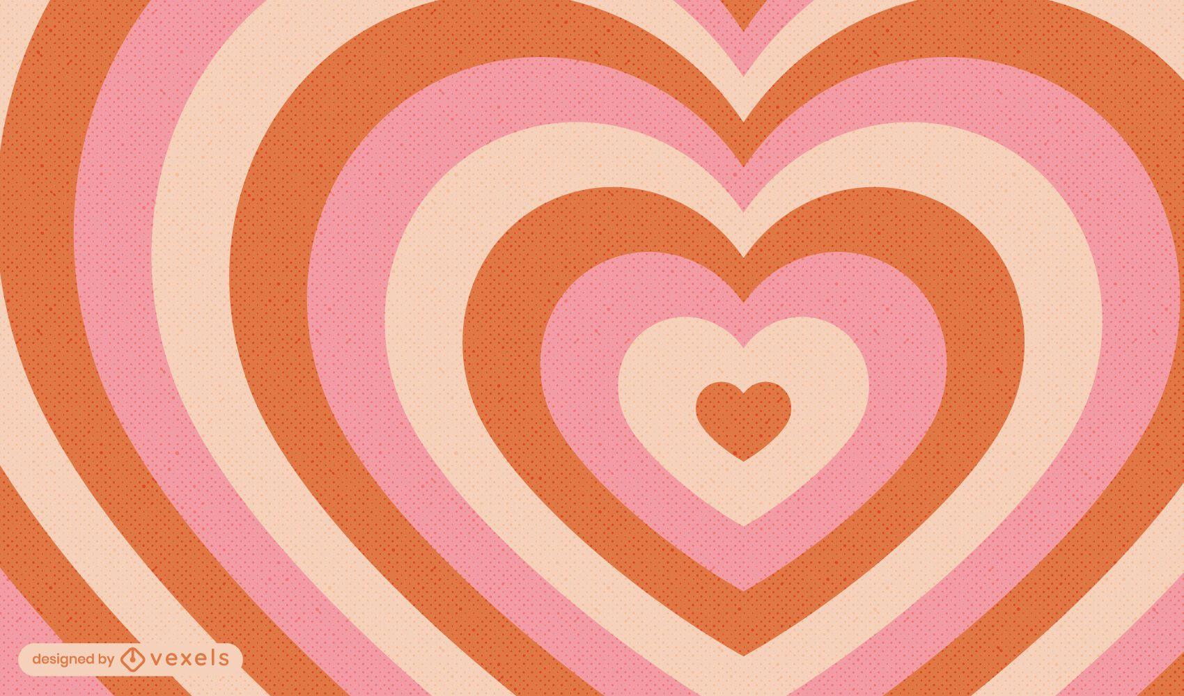 Desenho de fundo vintage de corações
