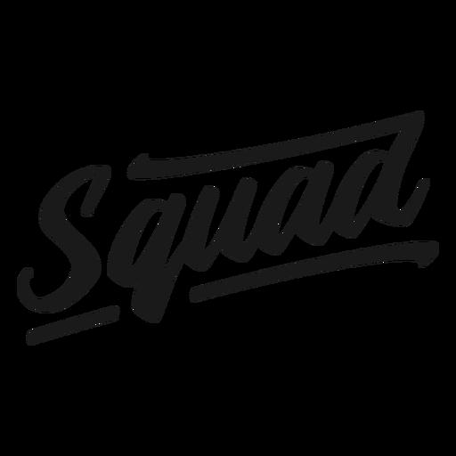 Squad cursive quote lettering