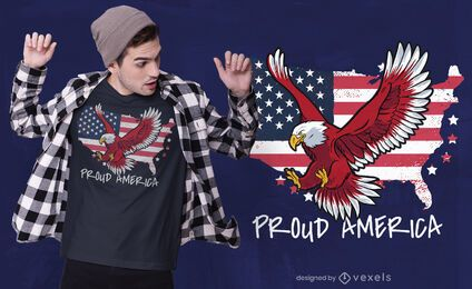Stolzes Amerika-T-Shirt Design