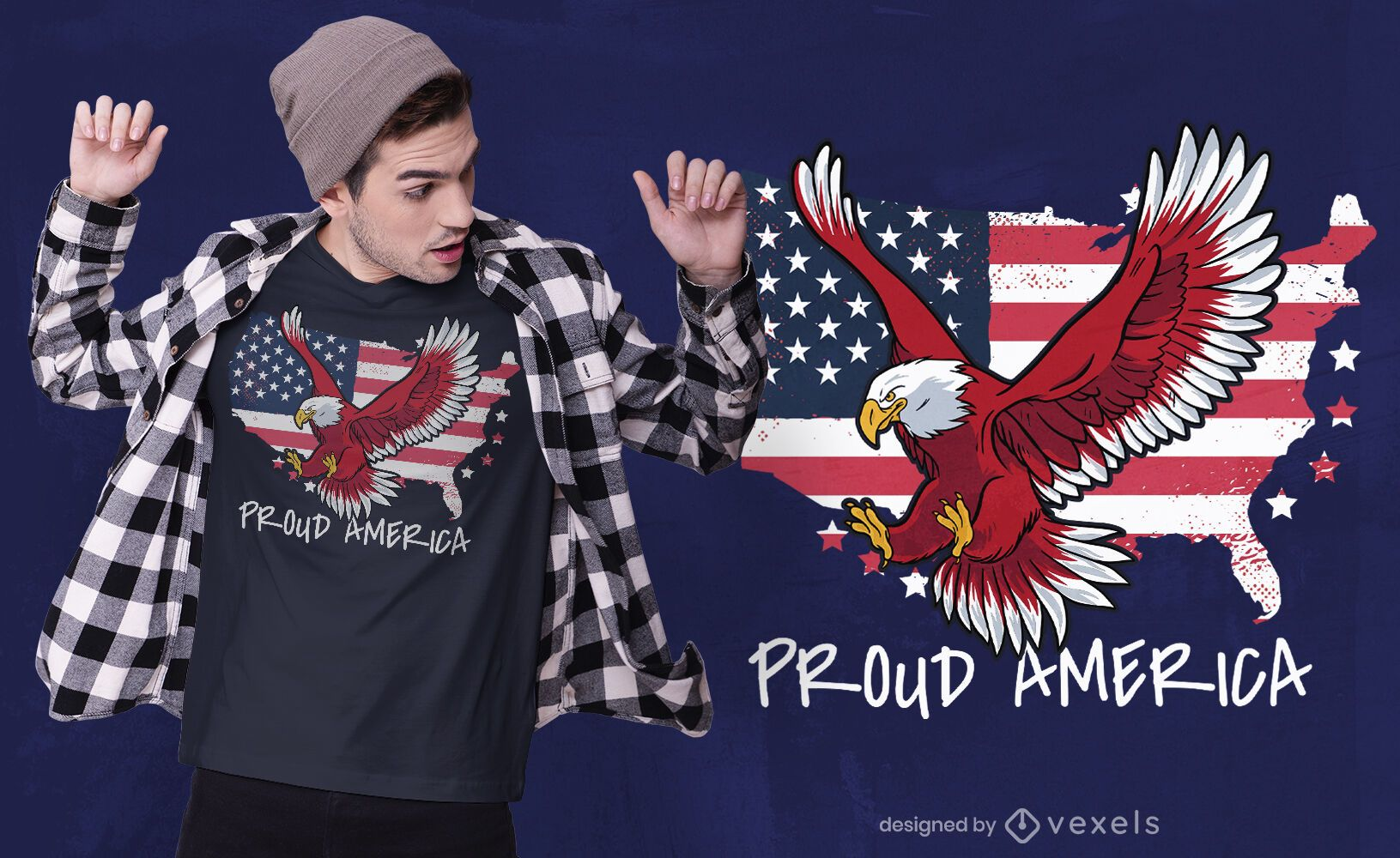 Orgulloso diseño de camiseta de américa