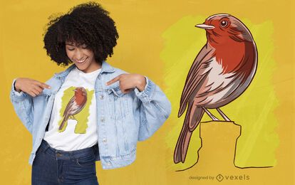 Robin bird t-shirt design