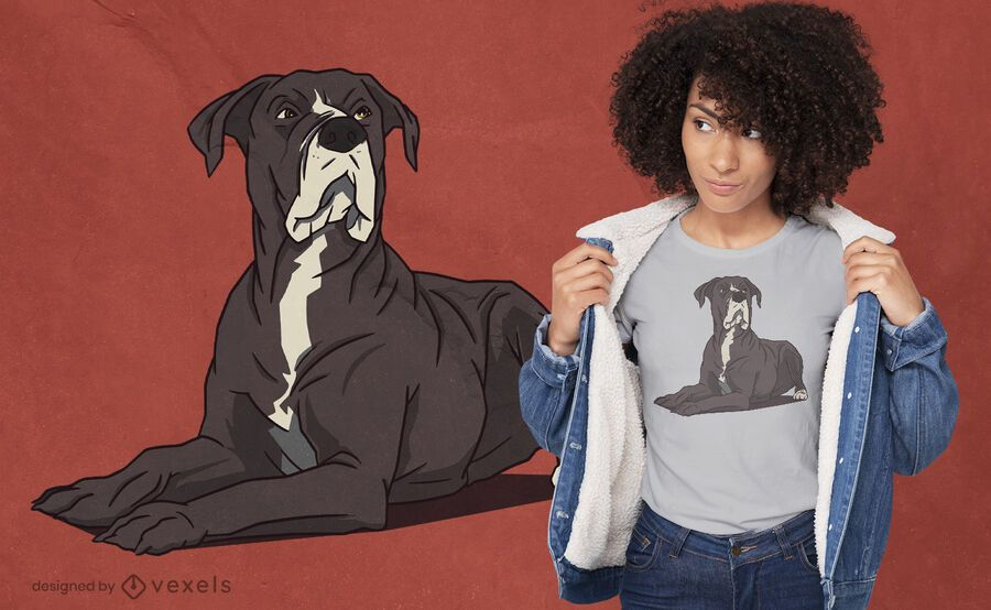 Dog lying down t-shirt design