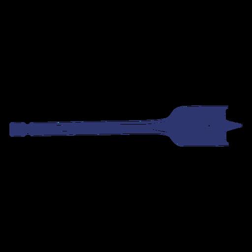 Blue drill bit tool design cut out