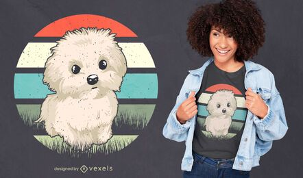 Maltese dog t-shirt design