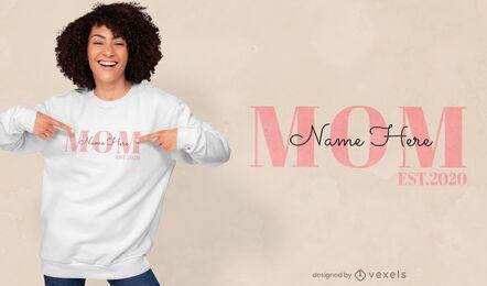 Diseño de camiseta de cita editable de mamá