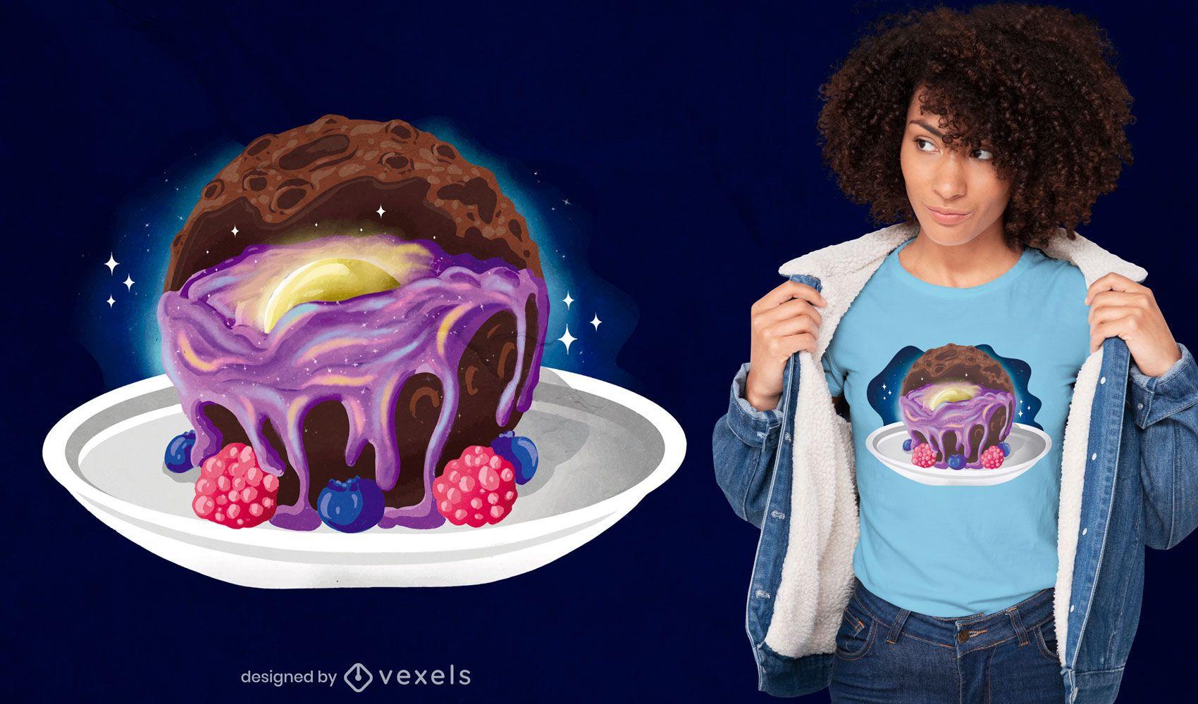 Moon dessert t-shirt design
