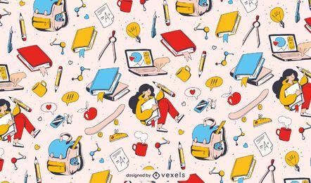 Zurück in der Schule, die Musterdesign studiert