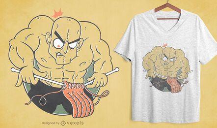 Diseño de camiseta de tejer hombre culturista