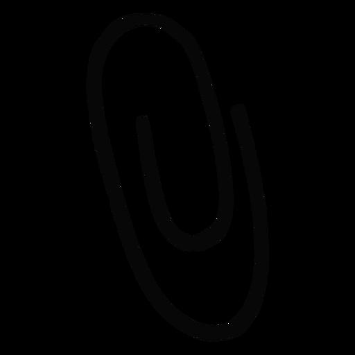 Black paperclip stroke