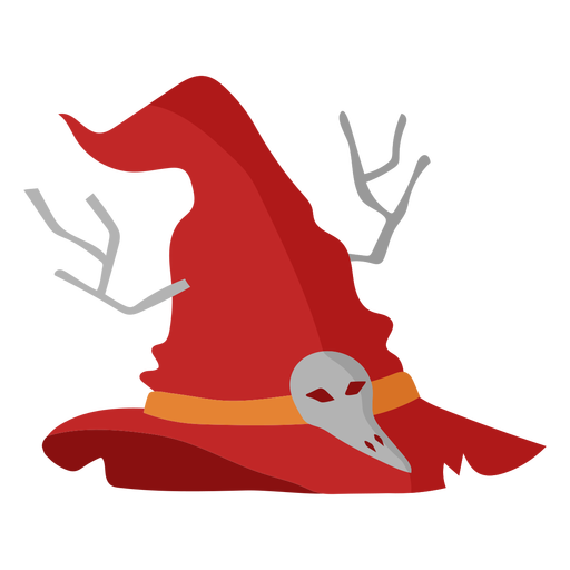 Witch hat with skull