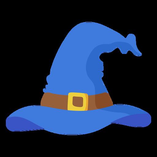 Blue witch hat semi flat