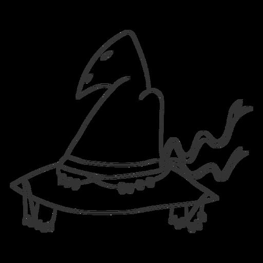 Spooky witch hat stroke