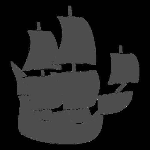 Side galleon filled stroke